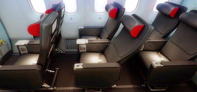 Air Canada New Premium Economy Comfort Airplane Interior Aircraft Interiors Boeing 787