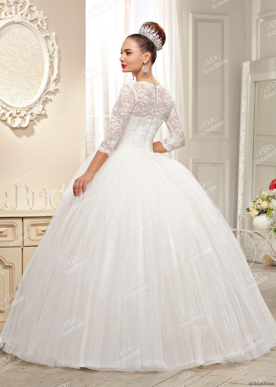 Свадебные платья с кружевом пышные