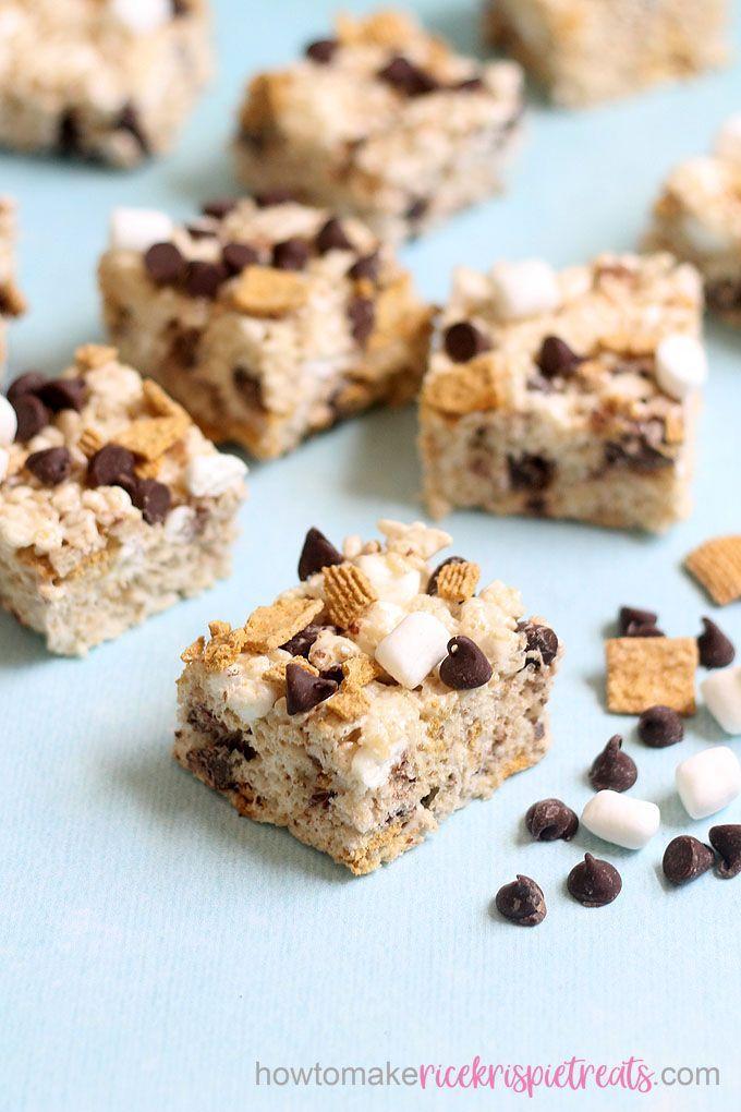 Amazing S'mores treats! Rice Krispie Treats for summer.