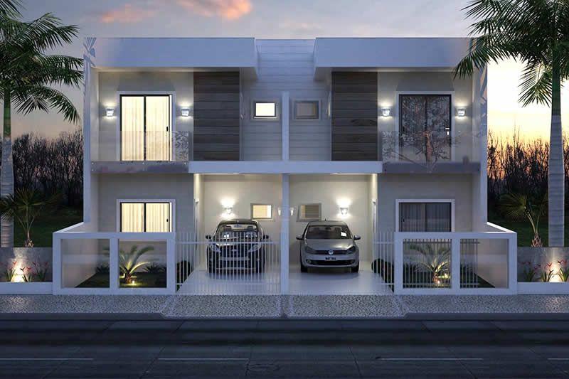Plano de casa adosado moderna   Fachadas   Pinterest   Casa adosada ...