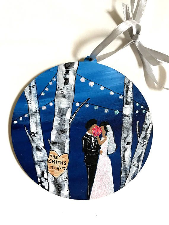 Black Couple Wedding Ornament Wedding Gift For Black Couple