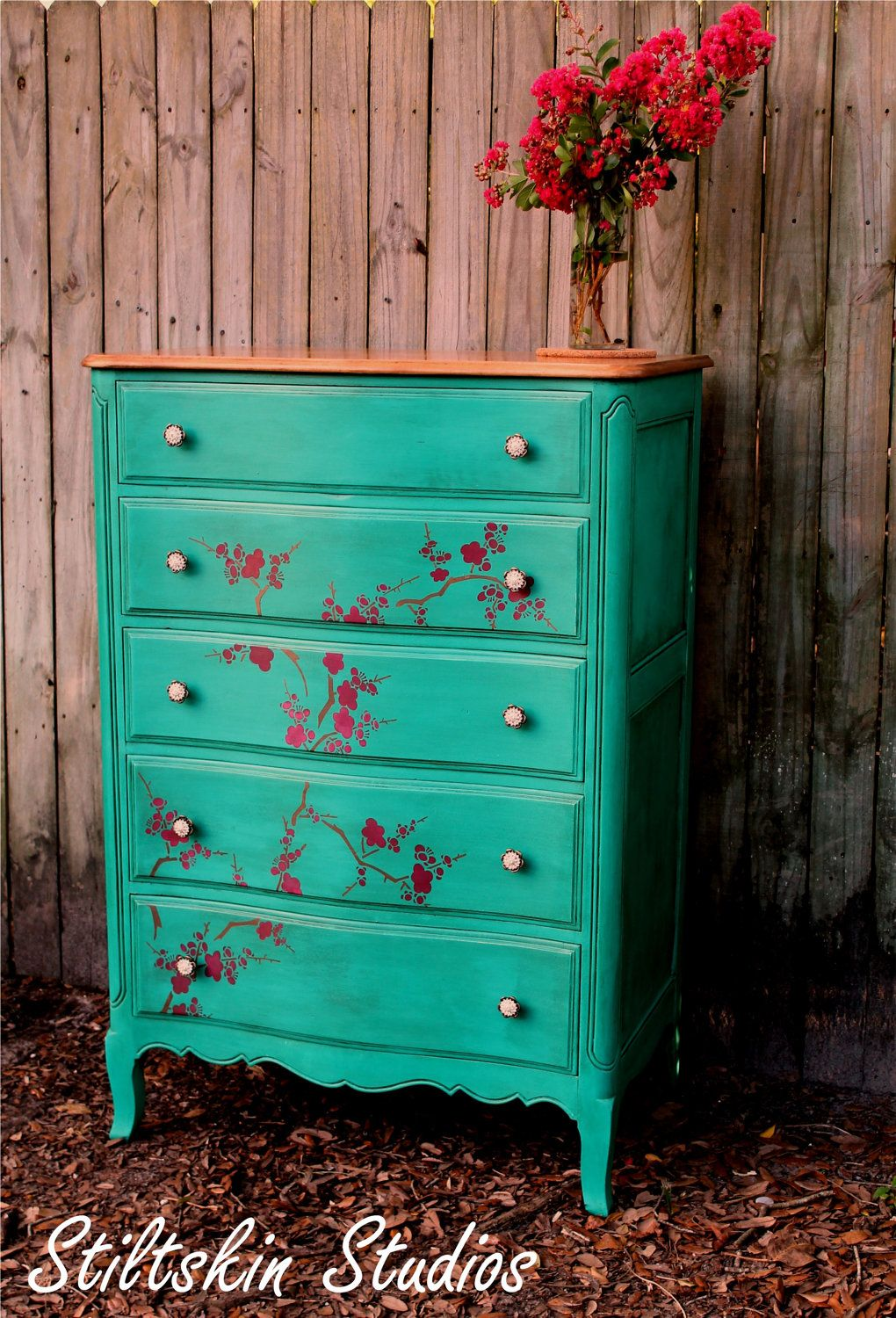 La Boheme Collection Cherry Blossom Dresser Annie Sloan Chalk Paint In Florence Glaze