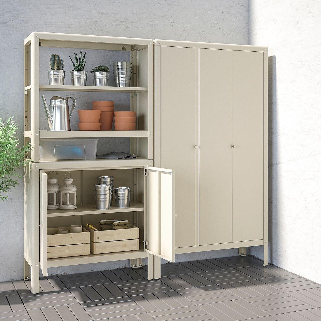 Kolbjorn Shelving Unit With 2 Cabinets Beige Width 67 3 8