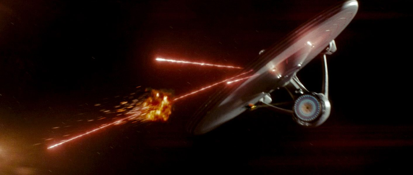 Screen Shot Of JJ Abrams USS Enterprise NCC 1701 From 2009 Star Trek Movie