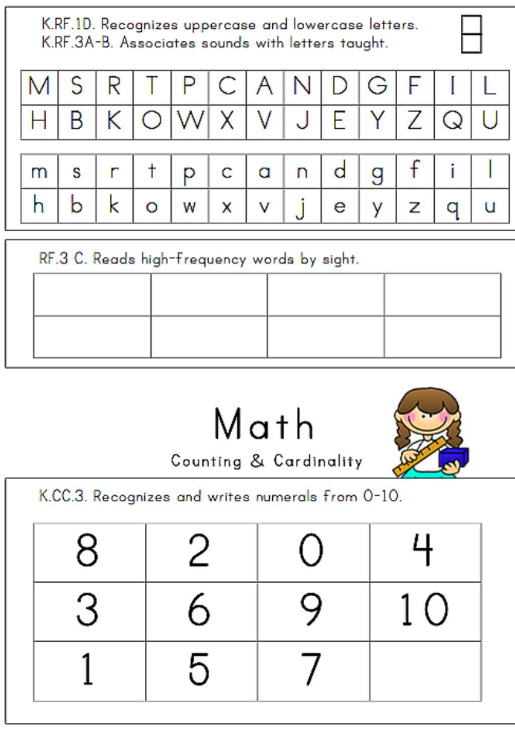 worksheet Kindergarten Assessment Test 3 page kindergarten assessment math and 24 illustrated assessment