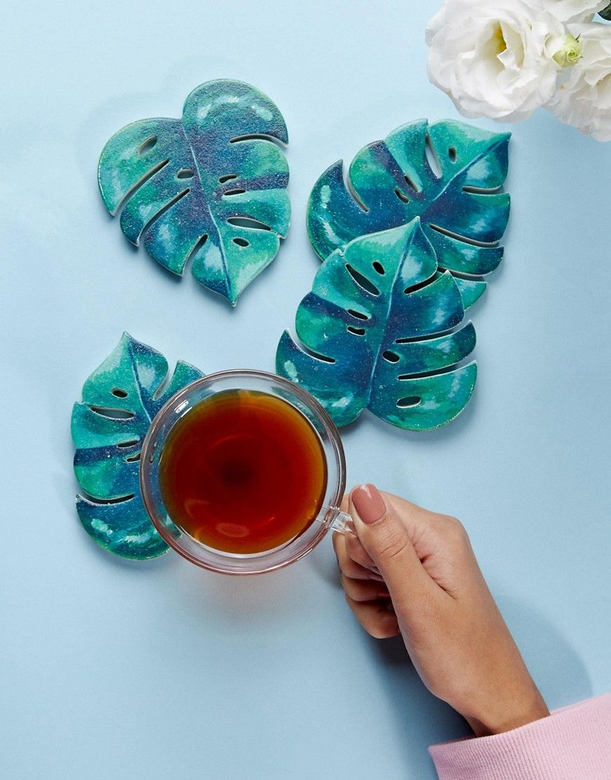 Leaf Coasters Want It Need It Coasters Diy Kitchen Home Decor