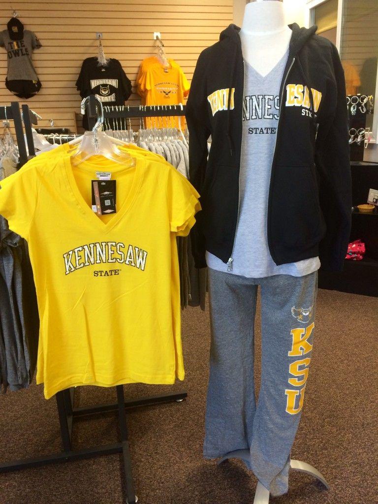 Kennesaw State University Apparel V Neck T Shirts And Black Zip Up Catriona Devon Backpack Hoodie Ksu Owls The General Bookstore