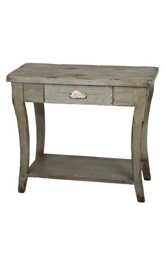 Privilege Intl. Vintage Green 1 Drawer Wooden Console Table