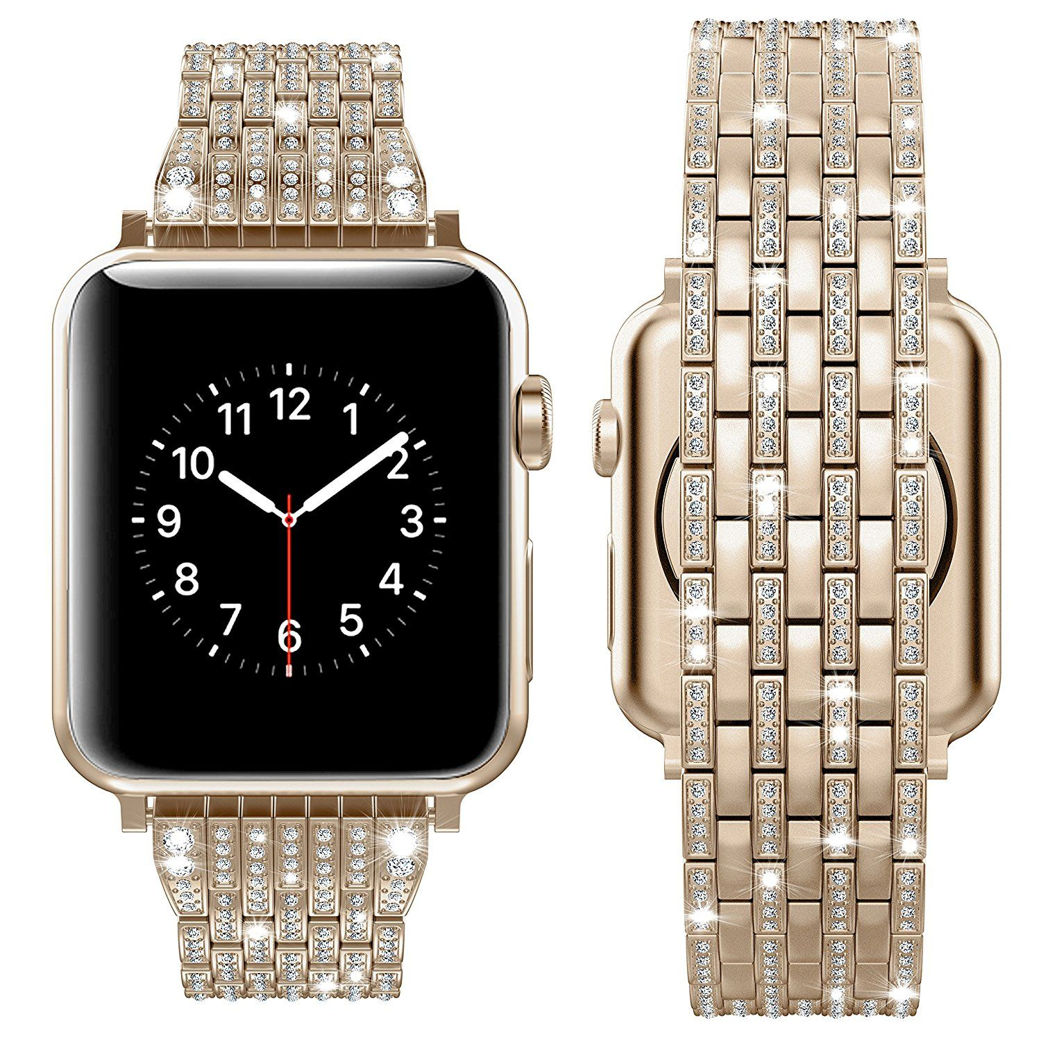 Apple Watch Series 5 4 3 2 Band Diamond Stainless Steel Strap