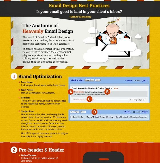 email newsletter design best practices an interactive infographics checklist www. Black Bedroom Furniture Sets. Home Design Ideas