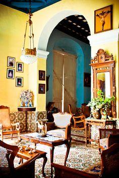 cuban interiors - Google Search | Cuba Style | Cuban decor ...