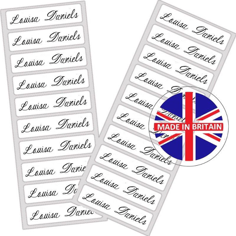 Waterproof Sew On Personalised School Name Labels Name Clothing Tags Labels