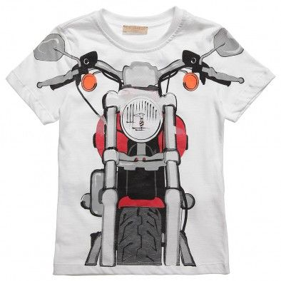 Boys White Jersey T-Shirt