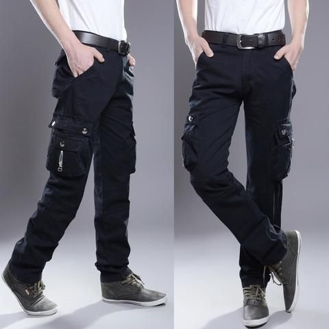 69653a384ce Brand Mens Military Cargo Pants Multi-pockets Baggy Men Pants Casual  Trousers Overalls Army Pants Cargo Pants high quality