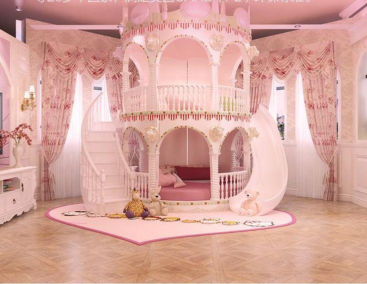 Schlafzimmer Prinzessin Mädchen Rutsche Kinder Bett