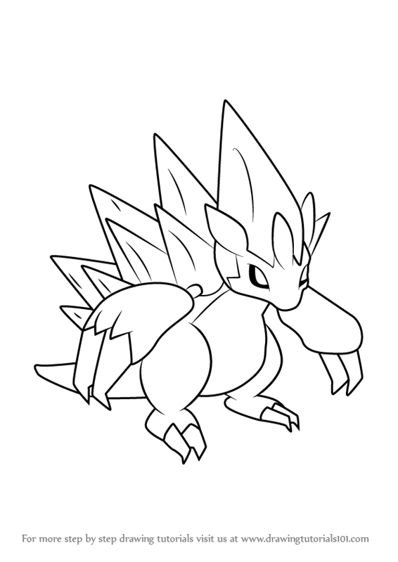 Learn How To Draw Alola Sandslash From Pokemon Sun And Moon Pokemon Sun And Moon Step By St Pokemon Coloring Pages Ninjago Coloring Pages Bear Coloring Pages