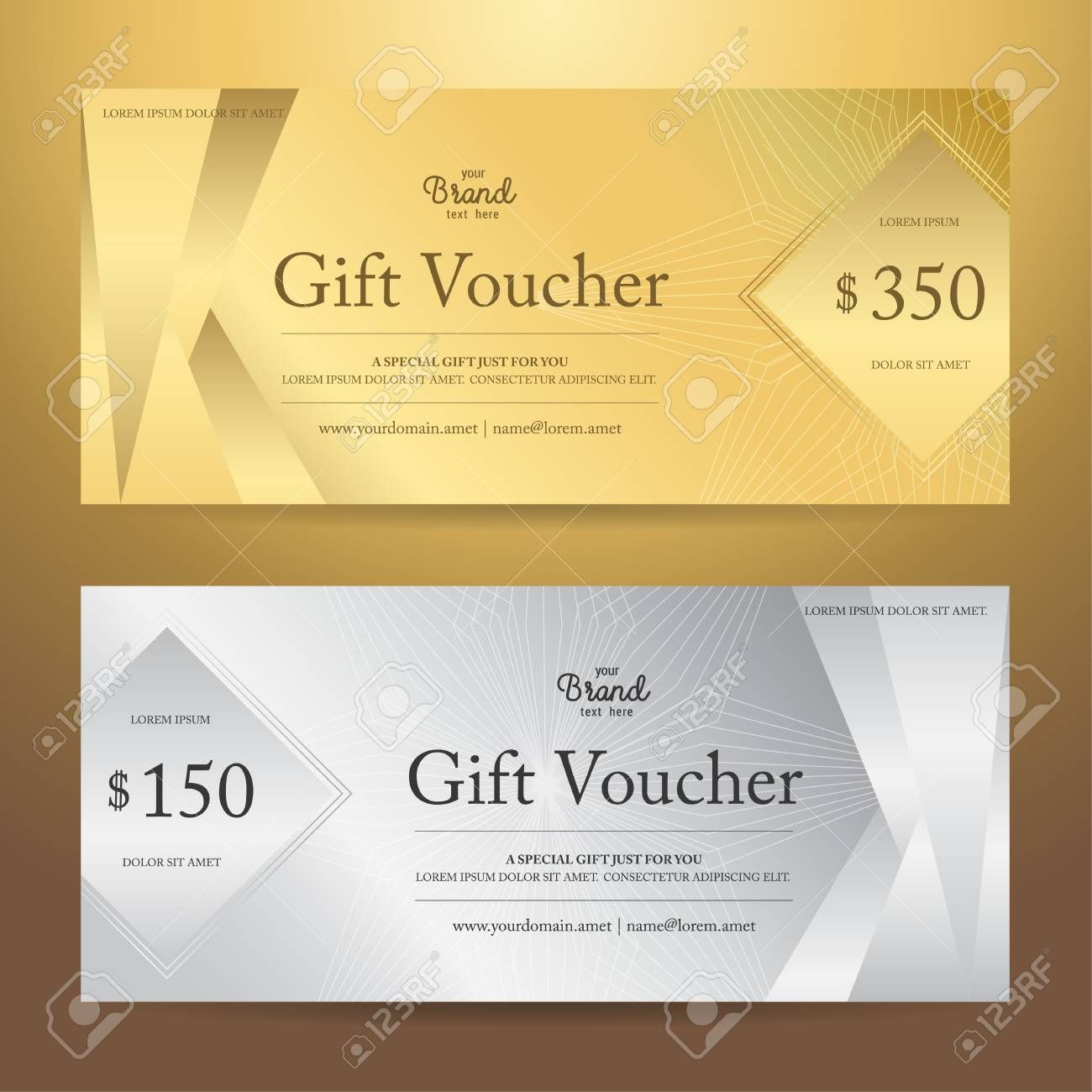 The Extraordinary Elegant Gift Voucher Or Gift Card Or Coupon Template For Discount Intended For Ele Gift Card Template Coupon Template Certificate Templates