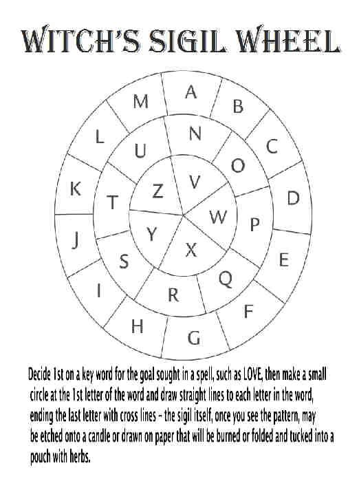 Witchs Sigil Wheel Witchcraft Pinterest Wheels Witches And