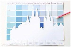 Basteln Mit Farbkarten Die Skyline Von Hamburg Und Koln Farbmusterkarten Farbkarten Projektideen
