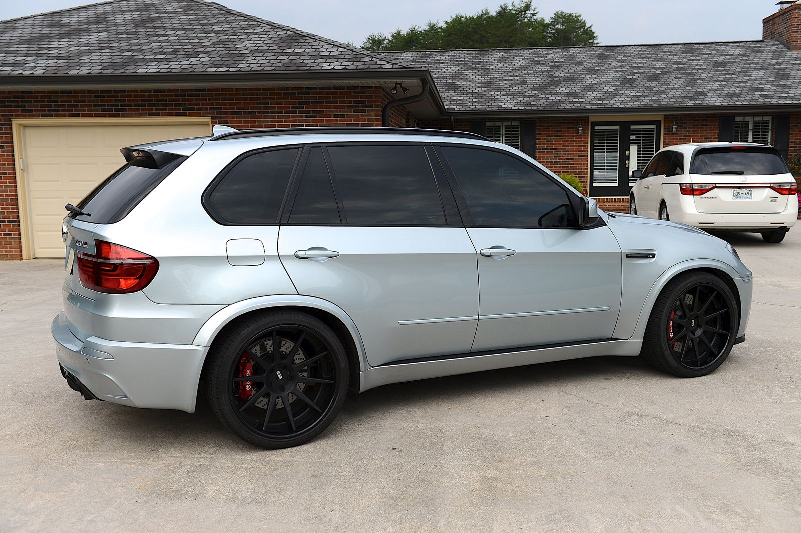 Bmw x5 slammed black wheels