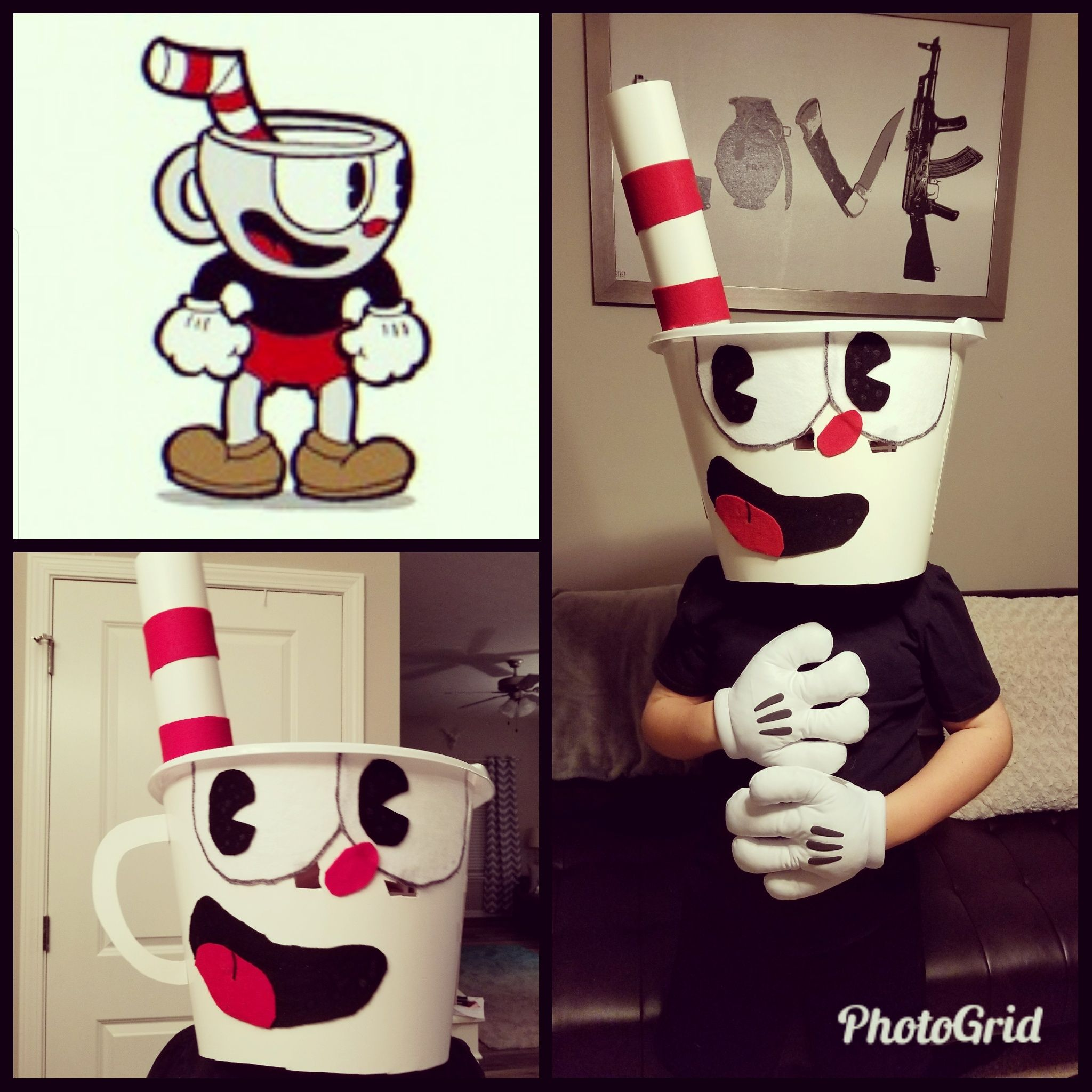 Diy Cuphead Costume For My 9 Year Old Son