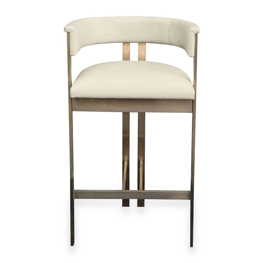 Elliott Bar Stool By Kelly Wearstler Bar Stools Upholstered Stool Shabby Chic Table And Chairs