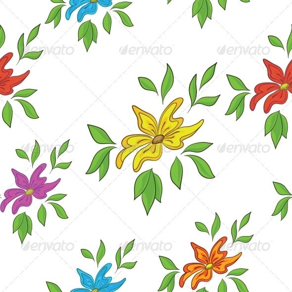Flower Background  #GraphicRiver         seamless floral background, symbolical flowers and leafs on white   Vector EPS 8 plus AI CS 5 plus high-quality Jpeg. Editable vector file, containing only vector shapes. No gradients. No transparencies.     Created: 5April13 GraphicsFilesIncluded: JPGImage #VectorEPS #AIIllustrator Layered: No MinimumAdobeCSVersion: CS5 Tags: abstract #background #birthday #blooming #botanic #cartoon #drawing #fabric #flora #floral #flower #isolated #leaf #lilac…