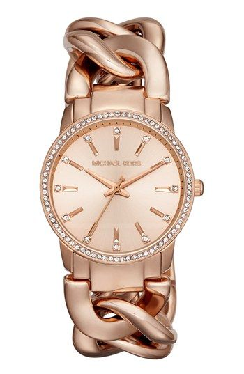 Michael Kors Lady Nini Chain Link Bracelet Watch 35mm Available At Nordstrom Michael Kors Accessories Michael Kors Watch