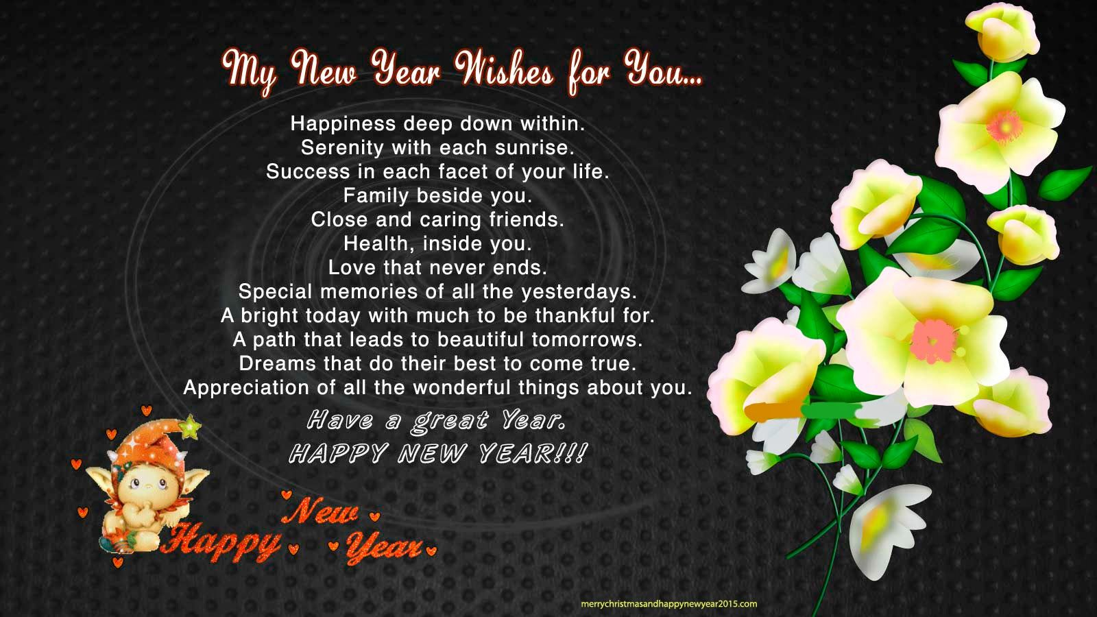 New Year Poems Happy New Year 2014 Wishes Quotes: New Year 2015 Poems In English