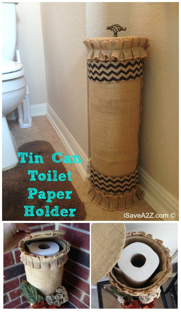 Tin Can Toilet Paper Holder Toilet Paper Toilet And Diy