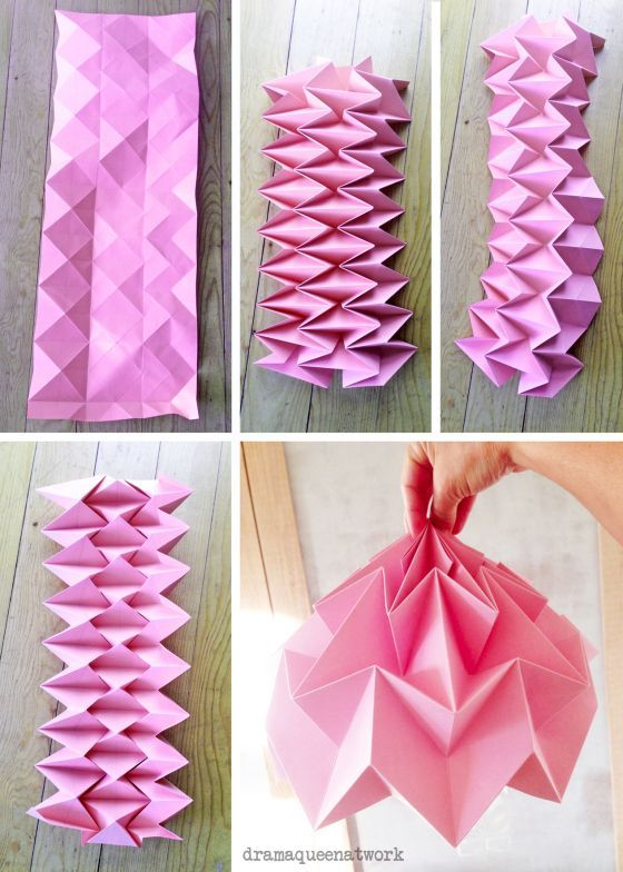 Plissee Die Lampen I Want To Try Pinterest Origami