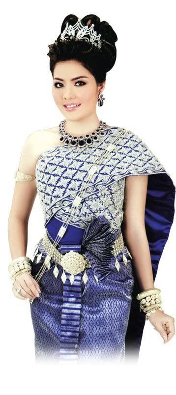 Cloth Dress Flower Khmer Girl