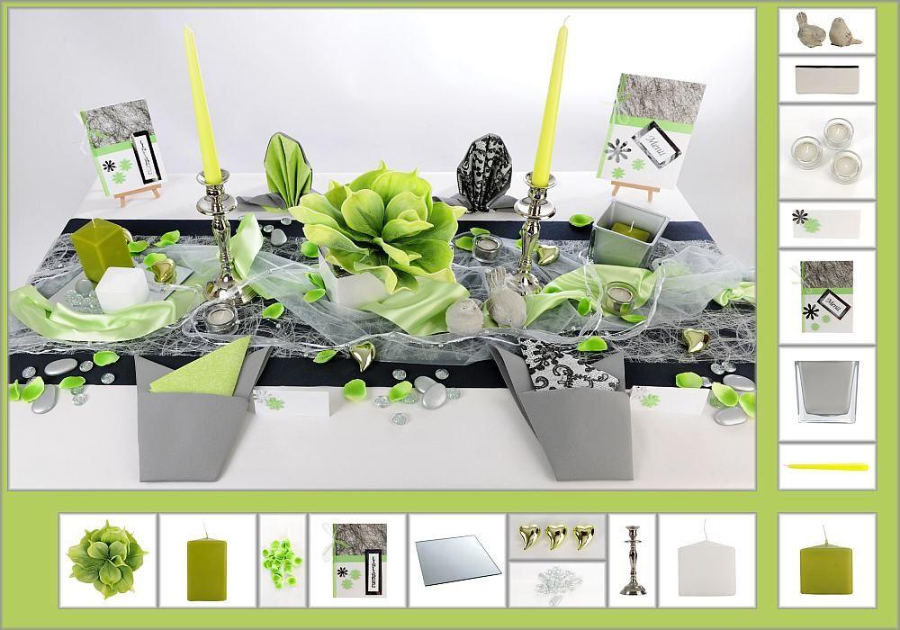 Tischdeko winter geburtstag  Tischdeko Geburtstag 9 in Grün/Silber als Mustertisch - Tafeldeko ...