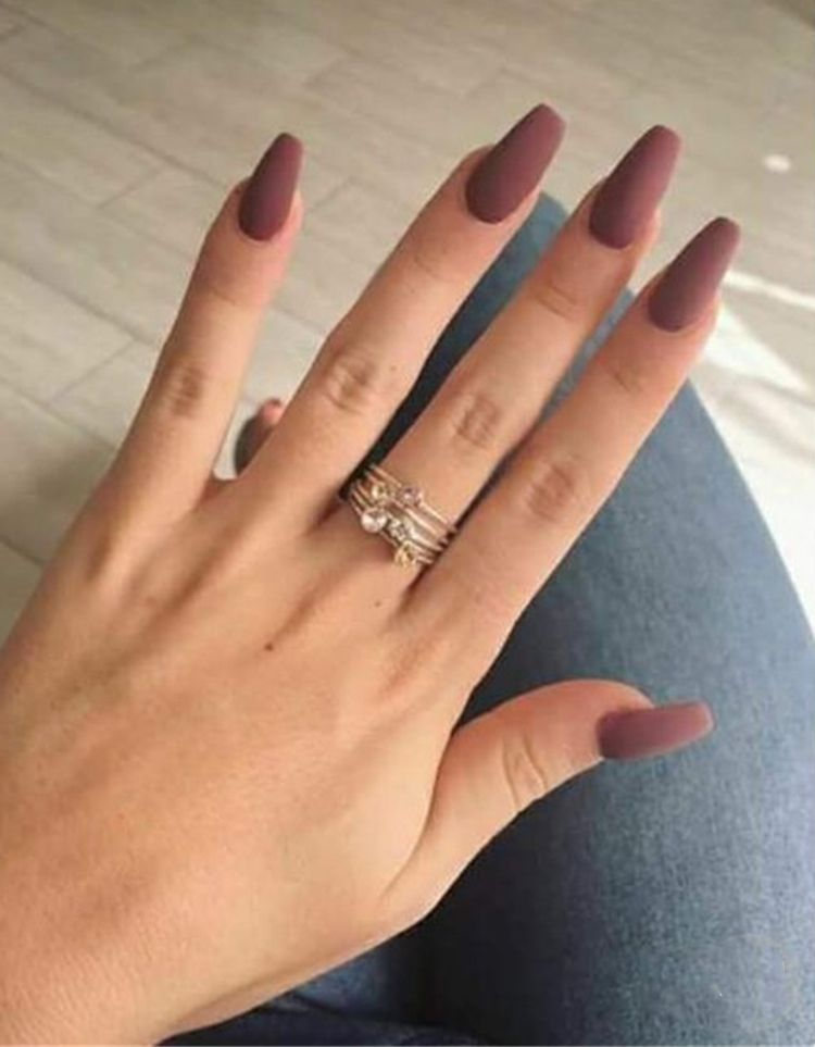 32 Stunning And Trendy Matte Coffin Nails Design Coffin Nails Matte Matted Nails Matte Nails Design