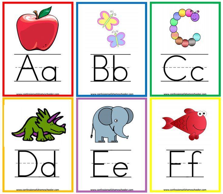 photo relating to Alphabet Cards Printable identified as 11 Sets of Printable Alphabet Flashcards Alphabet