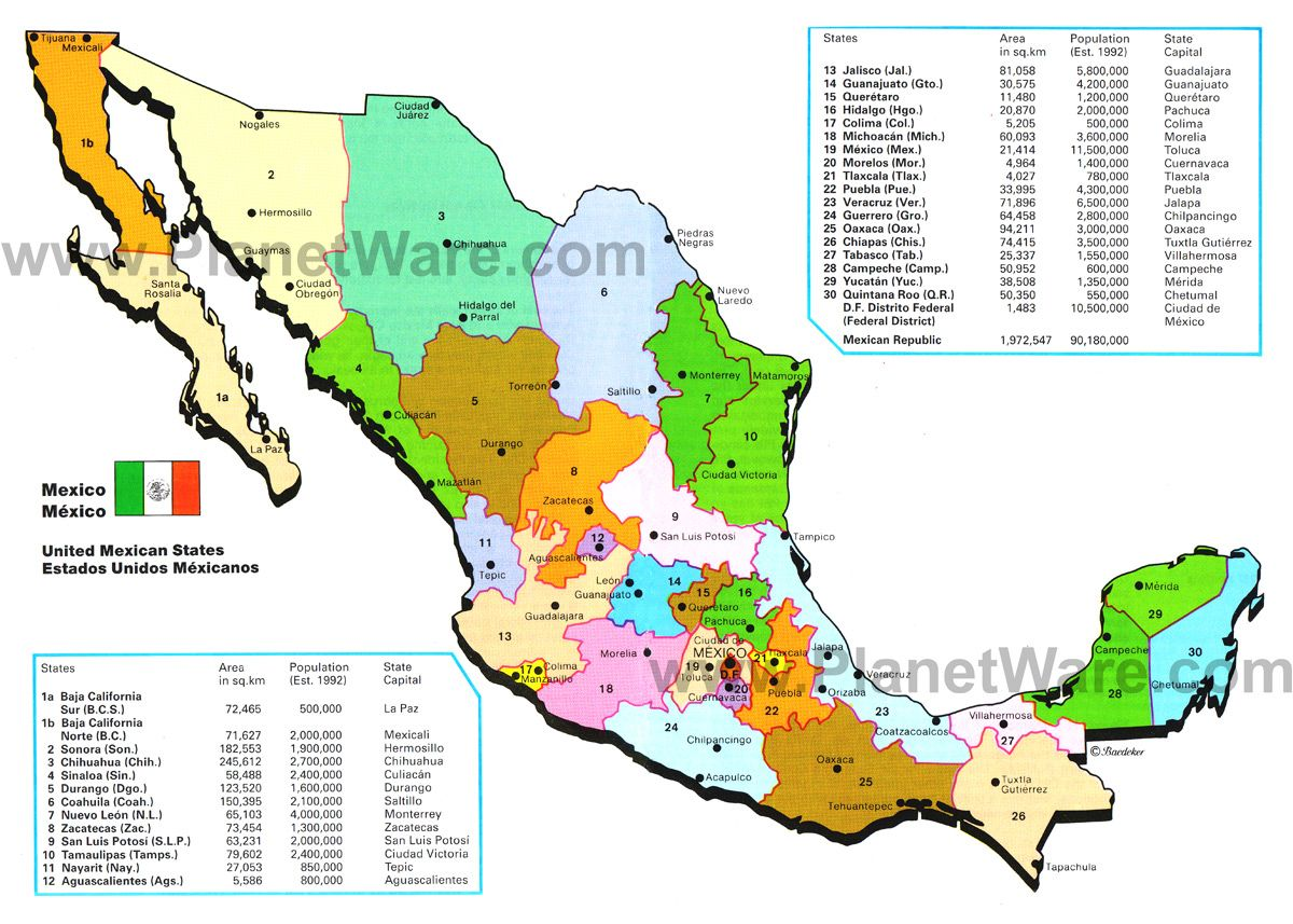 mexican state of mexico – Geographical Map of Mexico