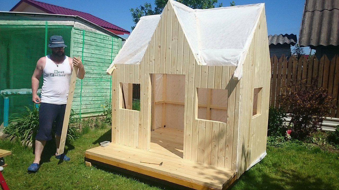 Папа построил сказочную детскую площадку для своей крохи. Утащу эту идейку к себе на дачу новые фото