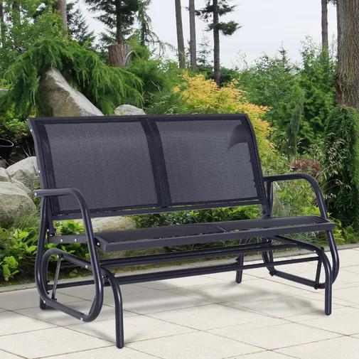 Callen 49 Outdoor Patio Swing Glider Bench Outdoor Patio Swing Patio Swing Patio Rocking Chairs