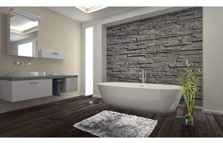 Home In 2019 A Farmhouse Dream Bathroom Feature Wall Stone