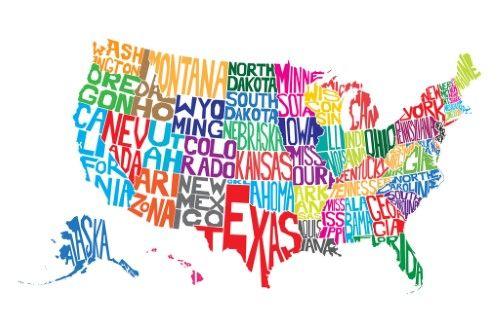 us word map - Suzen.rabionetociats.com Neska Map Usa on