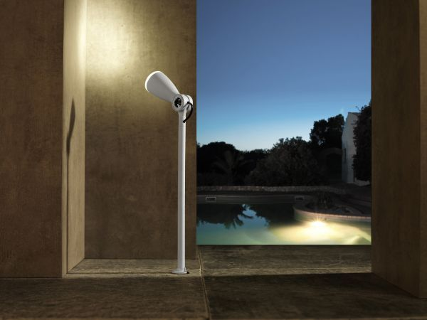 Flo White Led Spot Light 4w Garden Wall Lights Pond Lights Garden Spotlights