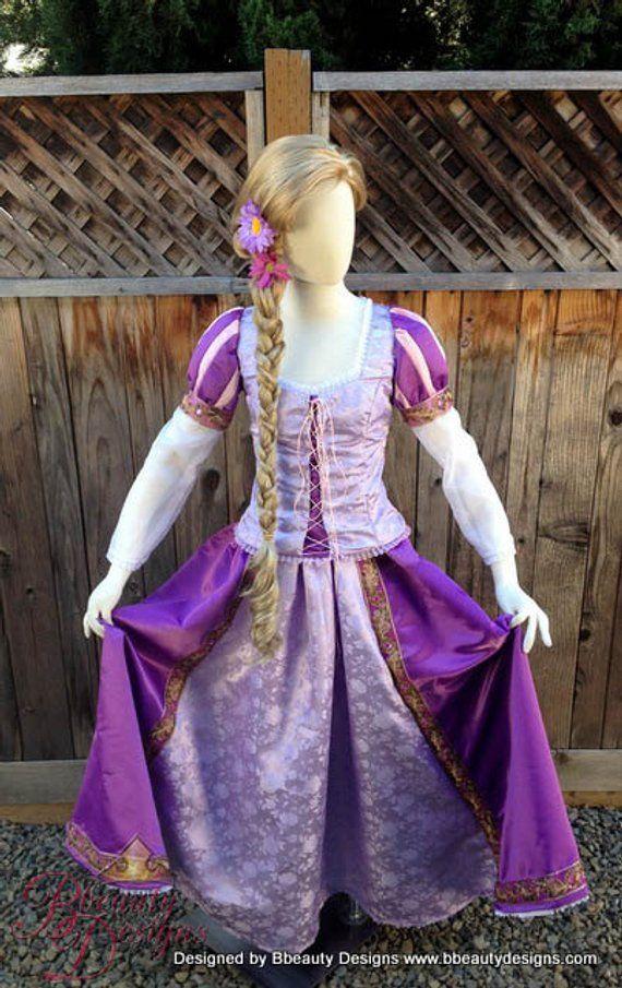 Tangled Rapunzel Princess Dress Rapunzel outfit adult cosplay costume custom V2