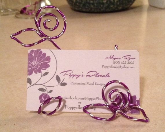 Buy business card holder wire flower desk display decorative office buy business card holder wire flower desk display decorative office accessory by wiredweddings explore more colourmoves