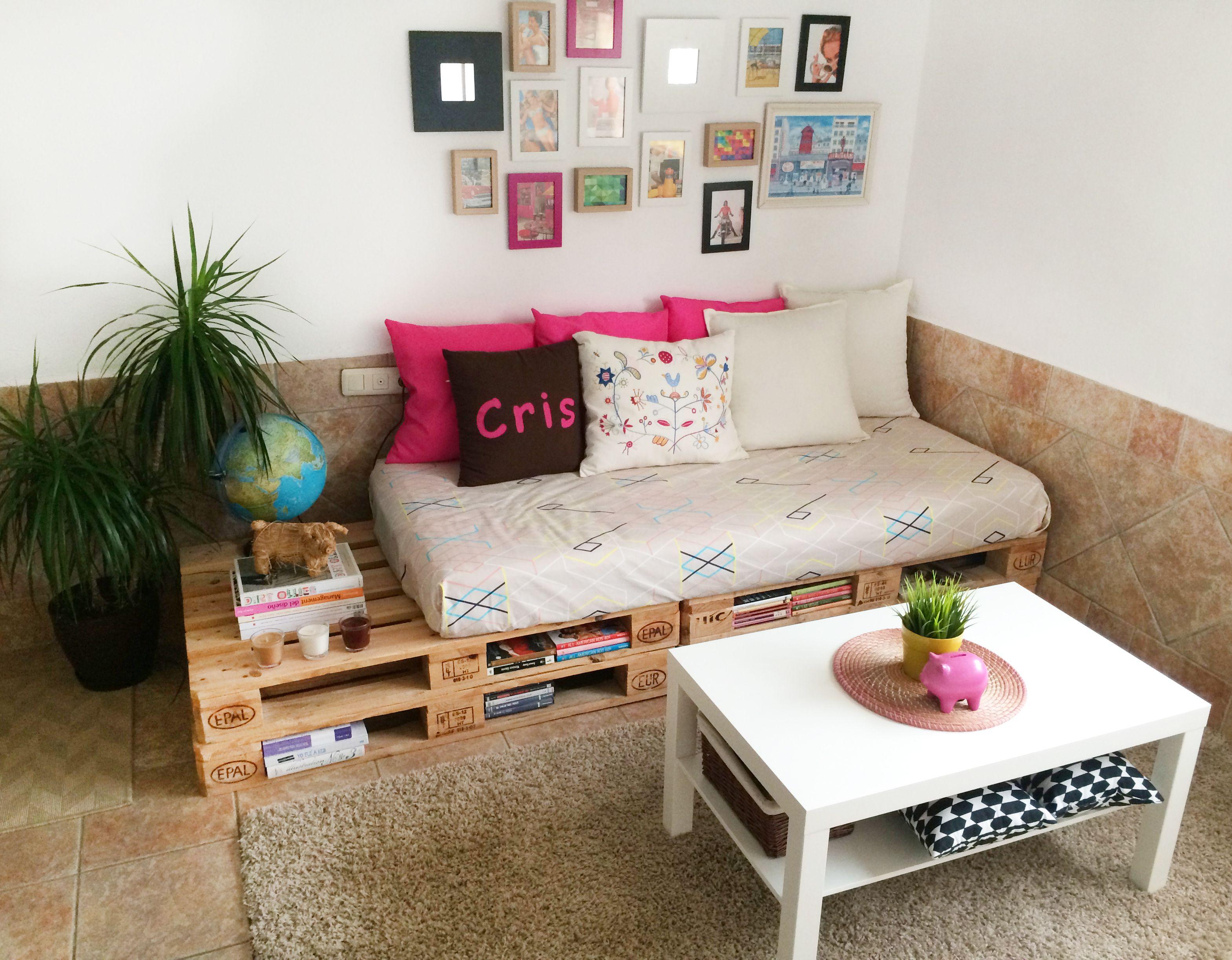 Habitaci N Estudio Con Palets Espacios Low Cost Pinterest  # Muebles Low Cost