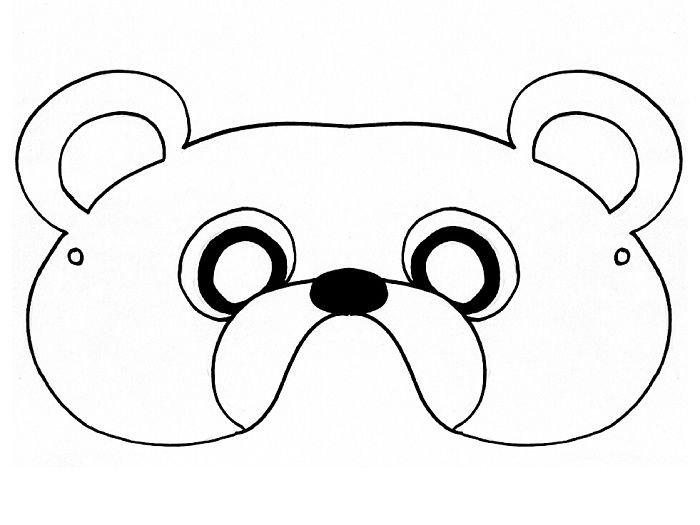 graphic regarding Printable Bear Mask identify Pin by means of Julie Royster upon operate tasks Go through mask, Undergo
