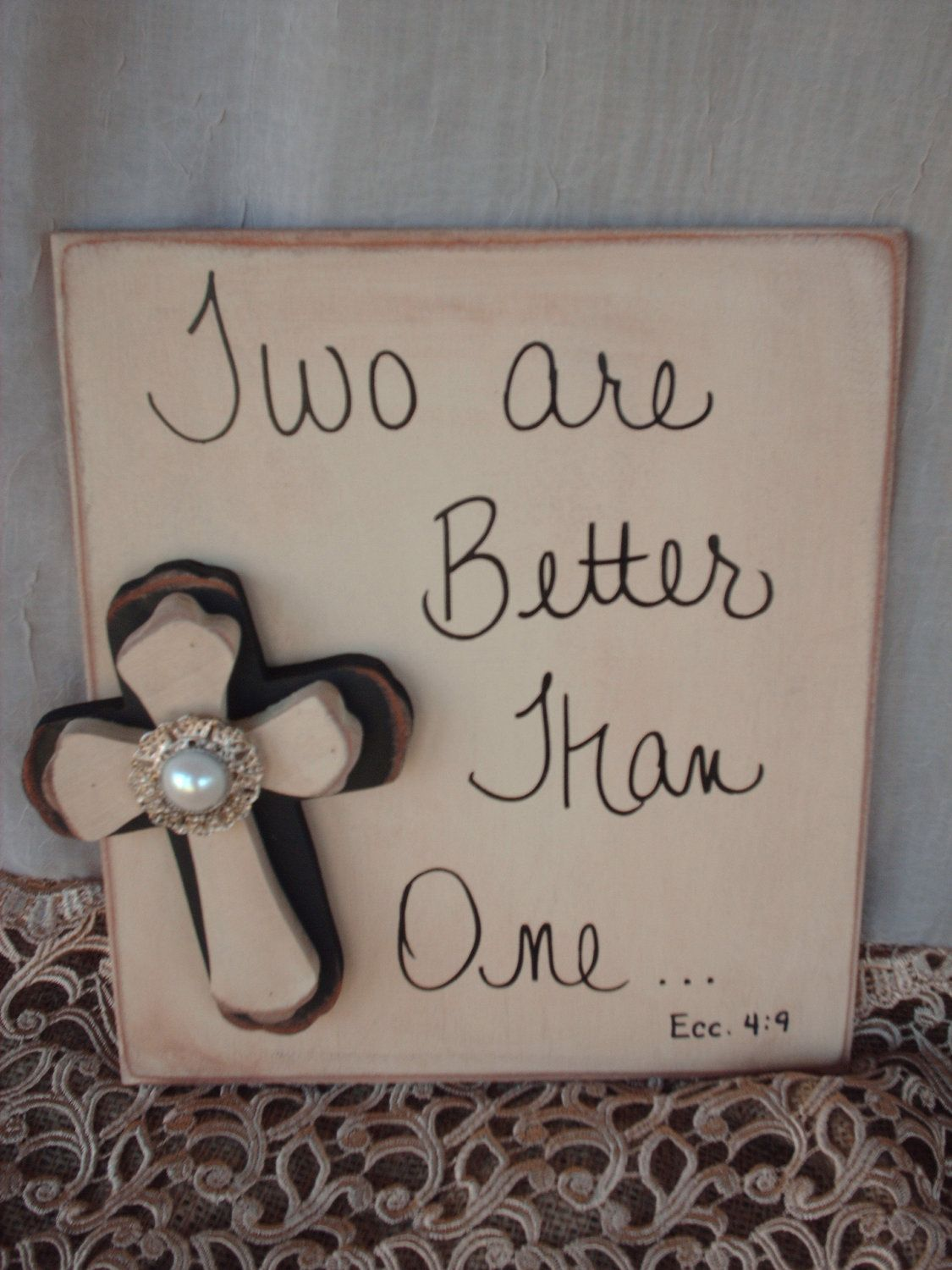 Rustic Bible Verse Wedding Sign And Decor