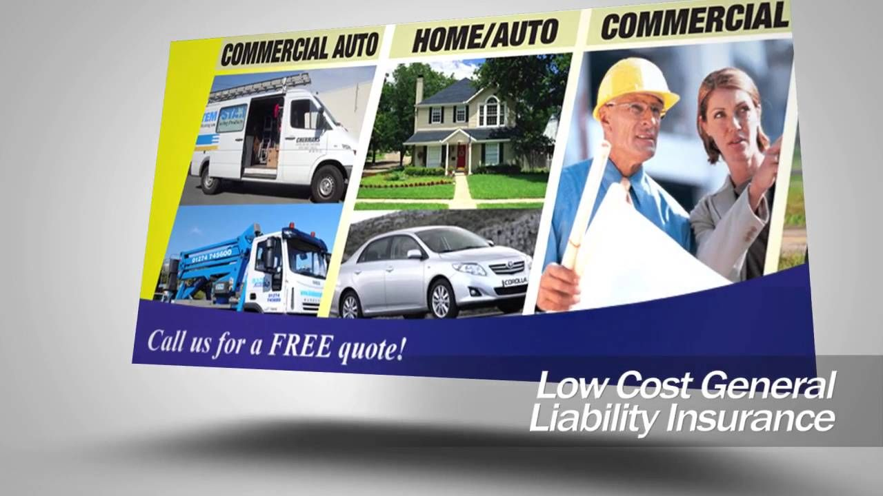 Cheap General Liabilty, Commercial Auto Insurance