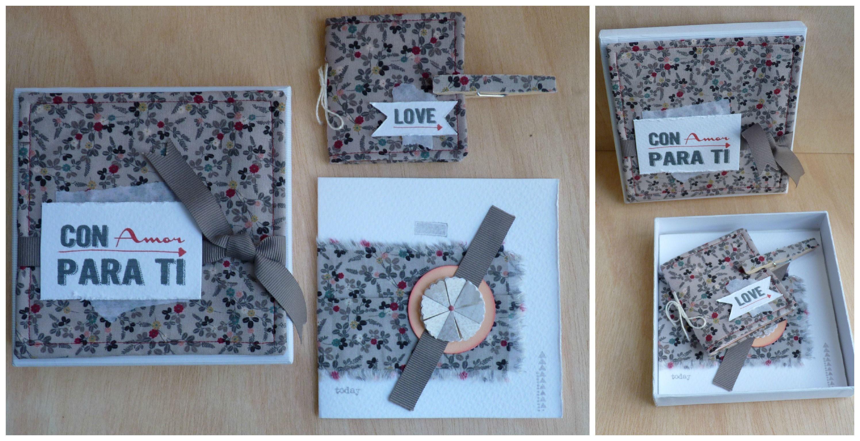 Cajita+tarjeta+milibreta+Pinza magnética