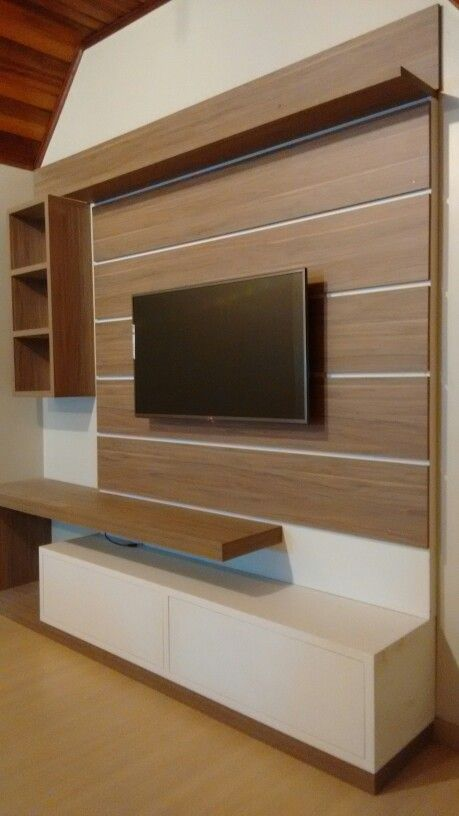 Latest Tv Unit Design: Painel Para TV, No Ático...By Jack Móbiles