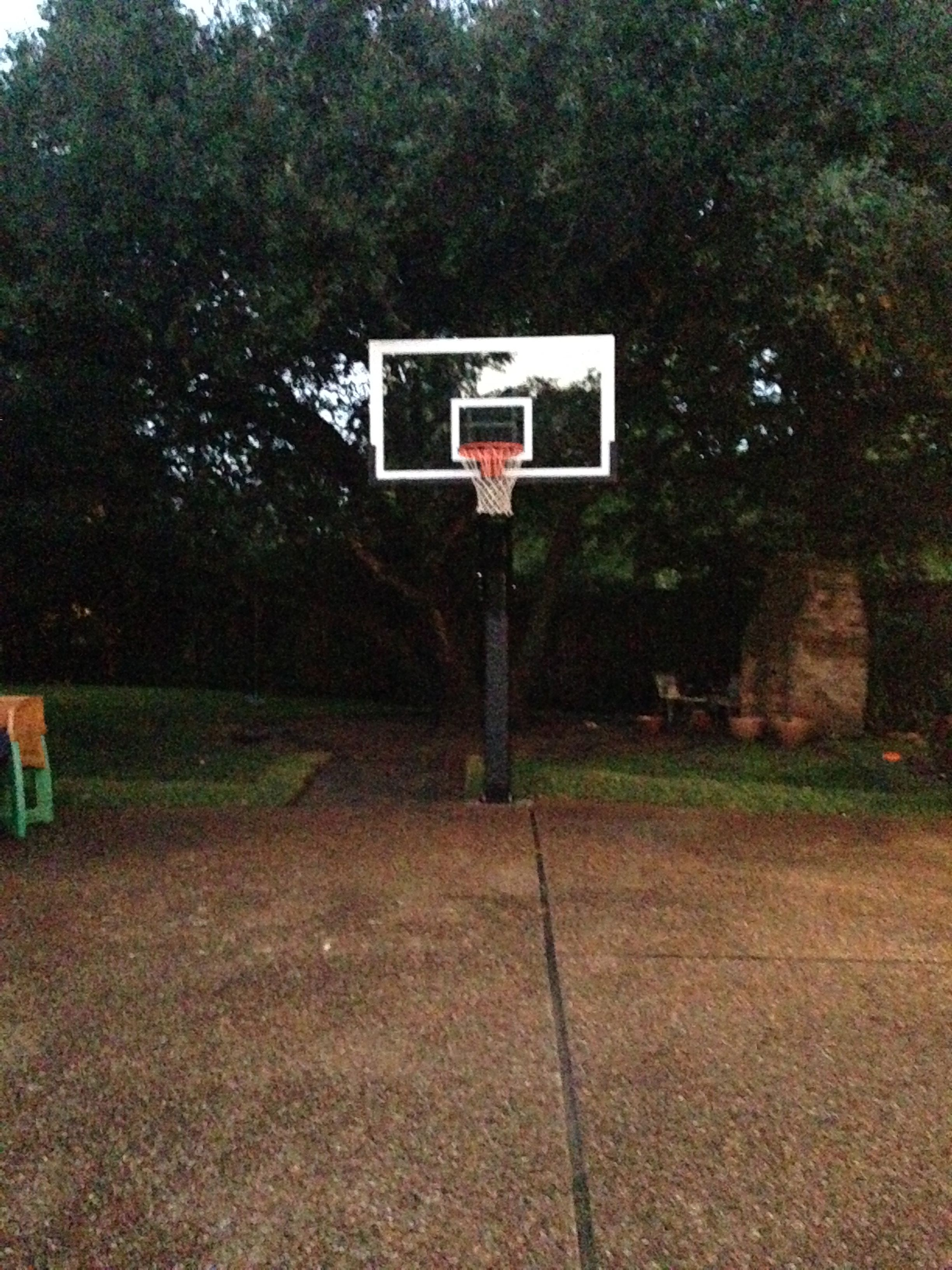 rain or shine this pro dunk platinum basketball system will stand